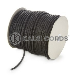 6mm Black Polypropylene Cord String Rope Roll Spool P206 Kalsi Cords