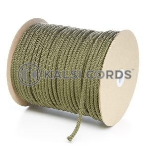 6mm Khaki Olive Green Polypropylene Cord String Rope Roll Spool P206 Kalsi Cords