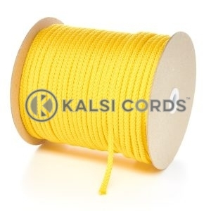 6mm Yellow Polypropylene Cord String Rope Roll Spool P206 Kalsi Cords