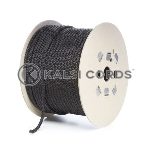 7mm Black Polypropylene Cord Rope Roll Spool P219 Kalsi Cords