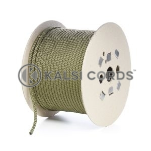 7mm Khaki Olive Green Polypropylene Cord Rope Roll Spool P219 Kalsi Cords