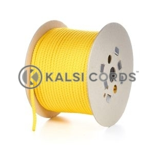 7mm Yellow Polypropylene Cord Rope Roll Spool P219 Kalsi Cords