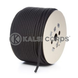 8mm Black Polypropylene Cord Rope Roll Spool P217 Kalsi Cords
