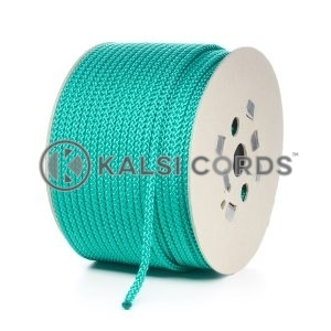 8mm Emerald Green Polypropylene Cord Rope Roll Spool P217 Kalsi Cords