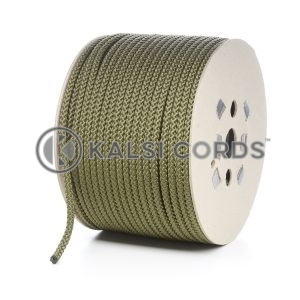 8mm Khaki Olive Green Polypropylene Cord Rope Roll Spool P217 Kalsi Cords