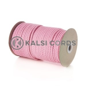 Baby Pink 5mm Round Knitted Cord Bag Handle Drawstring