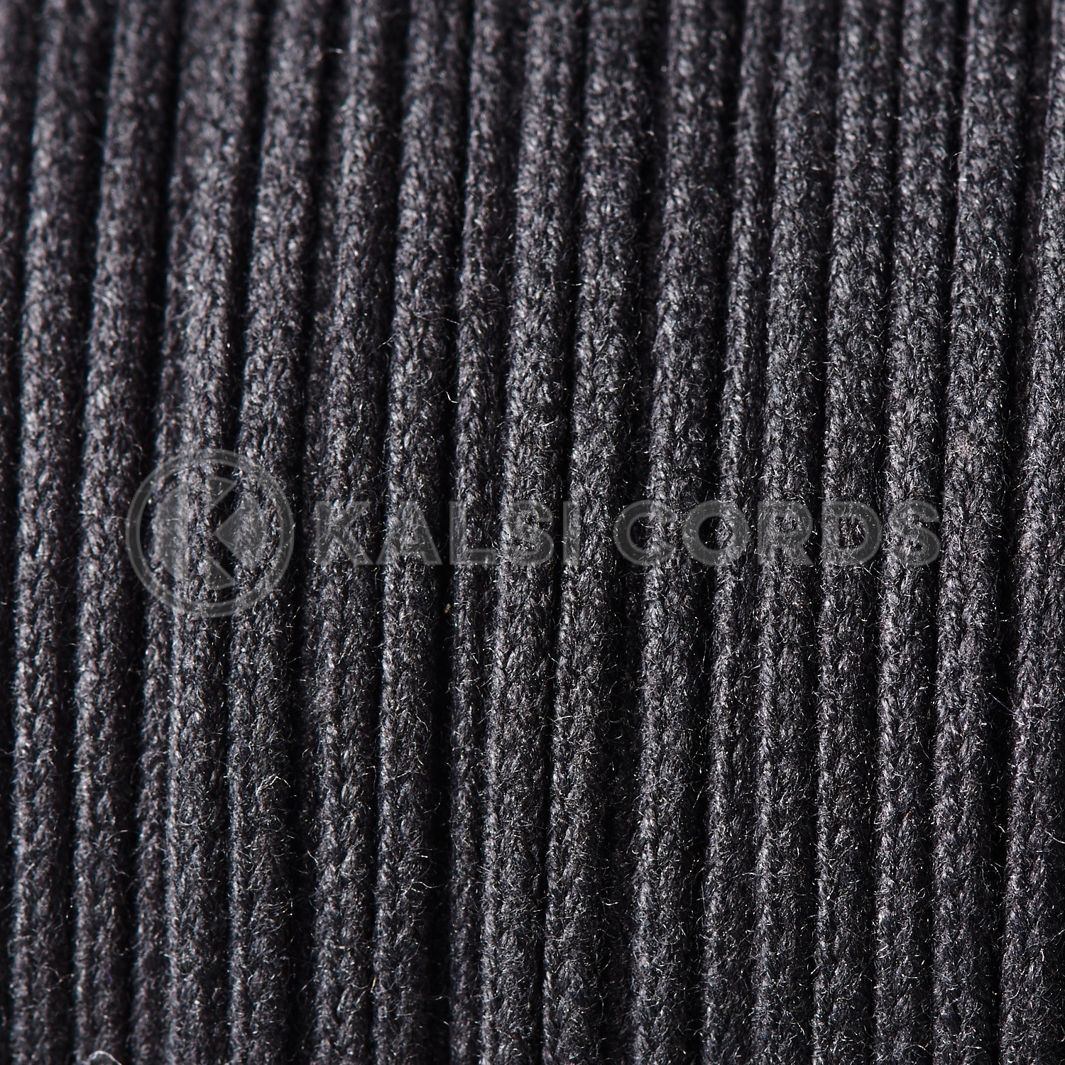 Black 4mm Round Cotton Cord Thin Braided String Piping Cushion Edging C223 Kalsi Cords