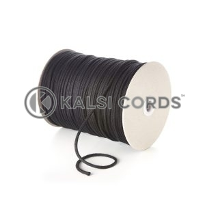Black 4mm Round Cotton Cord by Kalsi Cords