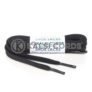 C242 Black Premium Flat Cotton Shoe Laces Kalsi Cords