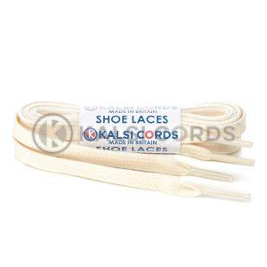 C242 Natural Undyed Premium Flat Cotton Shoe Laces Kalsi Cords