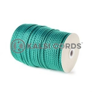 Emerald Green 5mm Round Knitted Cord Bag Handle Drawstring