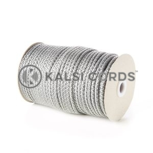 Grey Silver 5mm Round Knitted Cord Bag Handle Drawstring