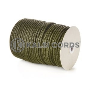 Khaki 5mm Round Knitted Cord Bag Handle Drawstring