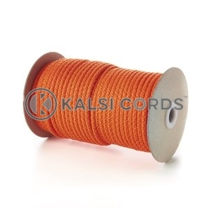 Orange 5mm Round Knitted Cord Bag Handle Drawstring