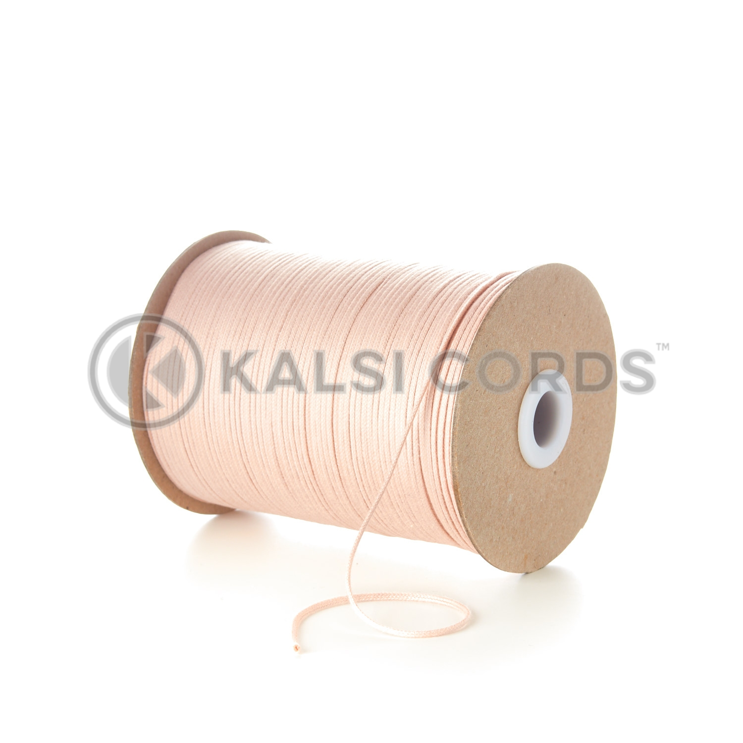 Pink 2mm Round Cotton Cord Thin Tubular Braided String Swing Tags C156 Kalsi Cords