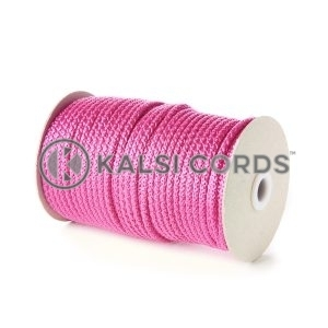 Pink 5mm Round Knitted Cord Bag Handle Drawstring