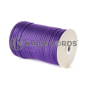Purple 5mm Round Knitted Cord Bag Handle Drawstring