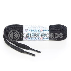 R1472 Black Sports Flat Shoe Laces Kalsi Cords