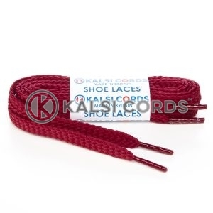 R1472 Bordeaux Sports Flat Shoe Laces Kalsi Cords