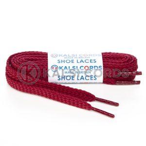 R1472 9mm Flat Diamond Pattern Premium Shoe Laces Bordeaux 1 Kalsi Cords