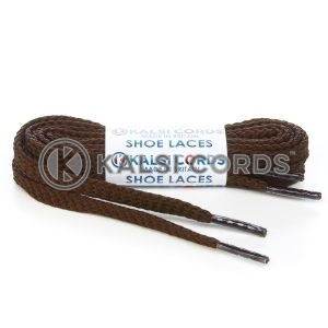 R1472 Brown Sports Flat Shoe Laces Kalsi Cords