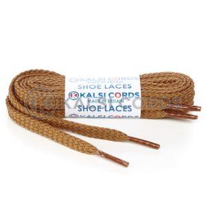 R1472 Dark Beige Sports Flat Shoe Laces Kalsi Cords