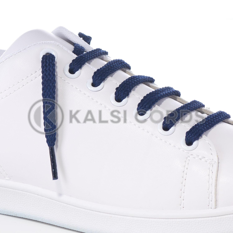 R1472 Dark Blue Sports Flat Shoe Laces Kalsi Cords
