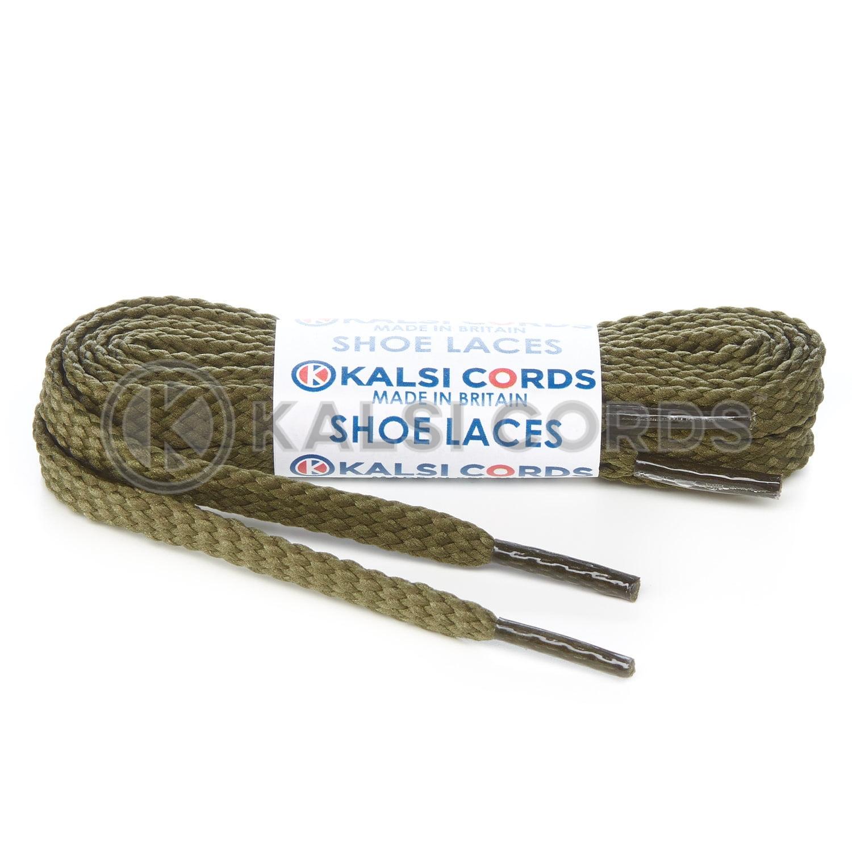 R1472 Khaki Sports Flat Shoe Laces Kalsi Cords