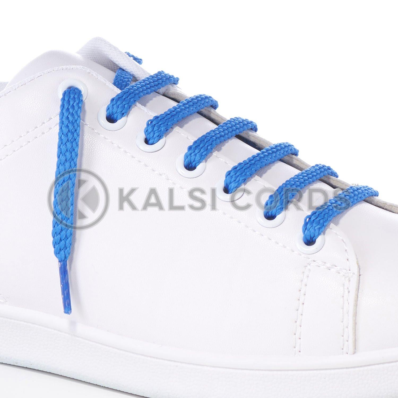 R1472 Ocean Blue Sports Flat Shoe Laces Kalsi Cords