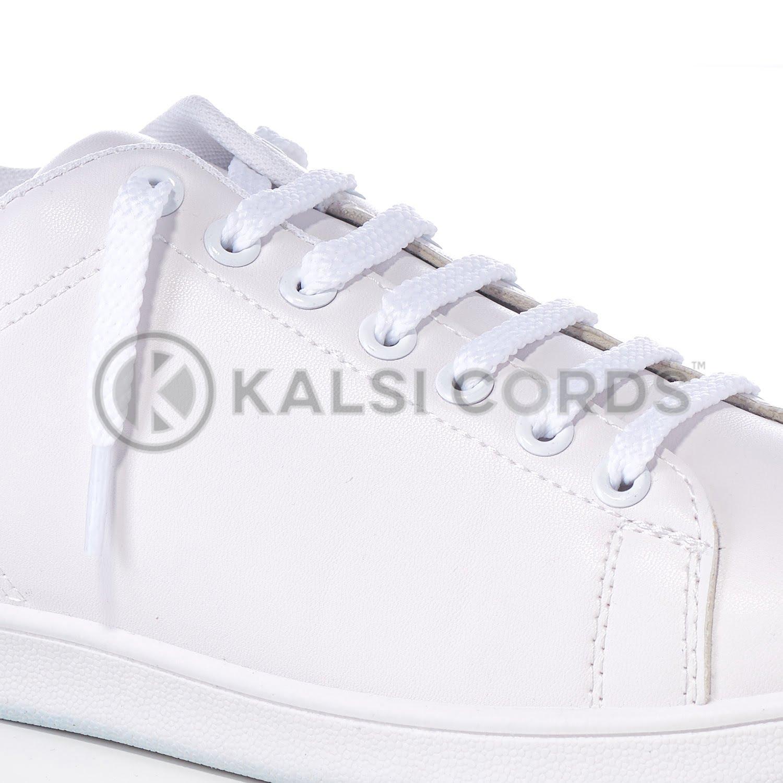 R1472 White Sports Flat Shoe Laces Kalsi Cords