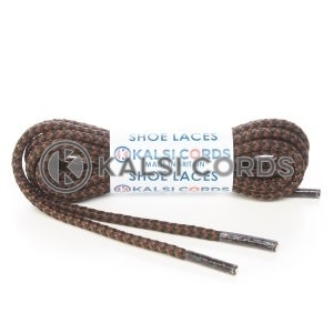 R698 4mm Round Extra Strong Heavy Duty Durable Shoe Laces Black York Brown 1 Kalsi Cords