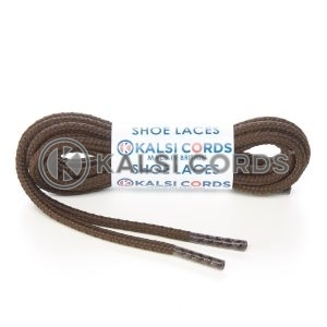 R698 4mm Heavy Duty Extra Strong Round Cord Shoe Laces York Brown Working Boots Hiking Walking Trainers Kalsi Cords