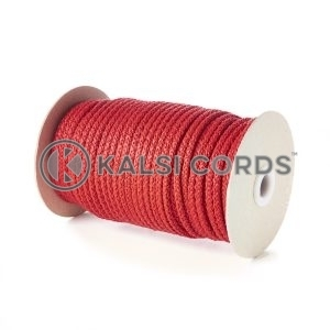 Red 5mm Round Knitted Cord Bag Handle Drawstring