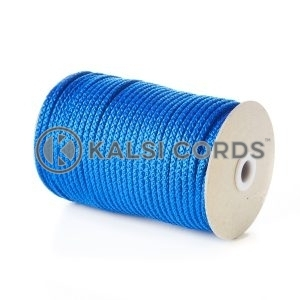 Royal Blue 5mm Round Knitted Cord Bag Handle Drawstring