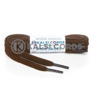 SP1 Brown Premium Flat Spun Poly Shoe Laces Kalsi Cords