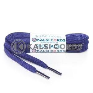 SP1 Purple Premium Flat Spun Poly Shoe Laces Kalsi Cords