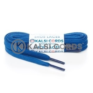 SP1 Royal Blue Premium Flat Spun Poly Shoe Laces Kalsi Cords