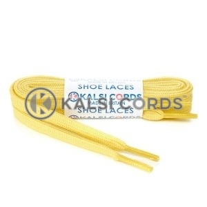 SP1 Yellow Premium Flat Spun Poly Shoe Laces Kalsi Cords