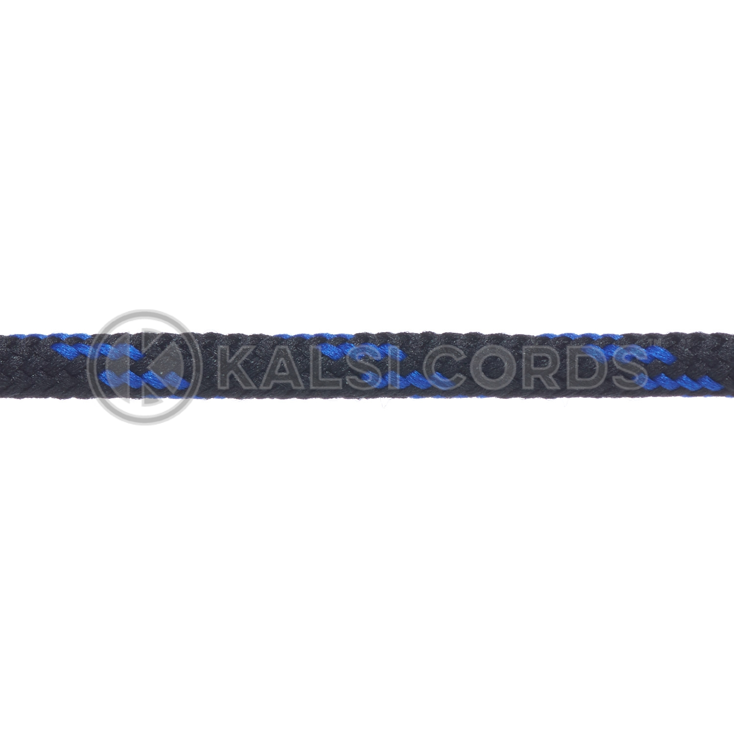 T621 5mm Round Cord Shoe Laces Black Royal Blue 4 Fleck Kids Trainers Adults Hiking Walking Boots Kalsi Cords