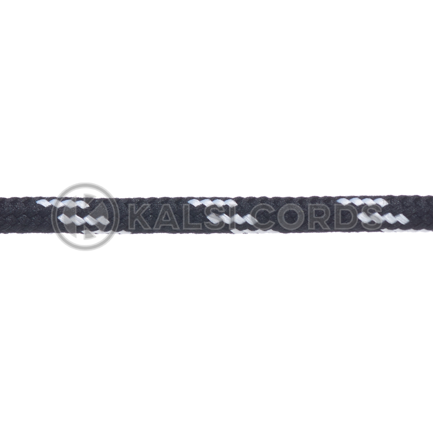 T621 5mm Round Cord Shoe Laces Black White 4 Fleck Kids Trainers Adults Hiking Walking Boots Kalsi Cords