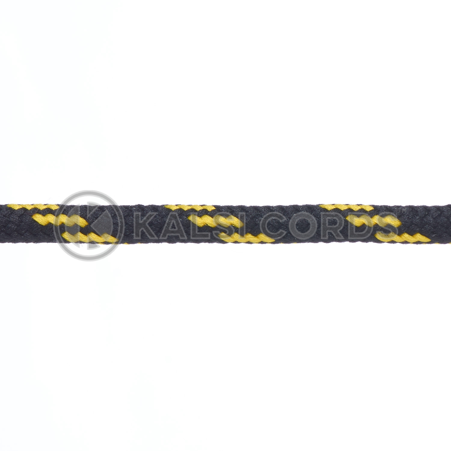 T621 5mm Round Cord Shoe Laces Black Yellow 4 Fleck Kids Trainers Adults Hiking Walking Boots Kalsi Cords