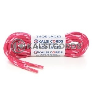 T621 5mm Round Cord Shoe Laces Cerise Baby Pink 4 Fleck Kids Trainers Adults Hiking Walking Boots Kalsi Cords