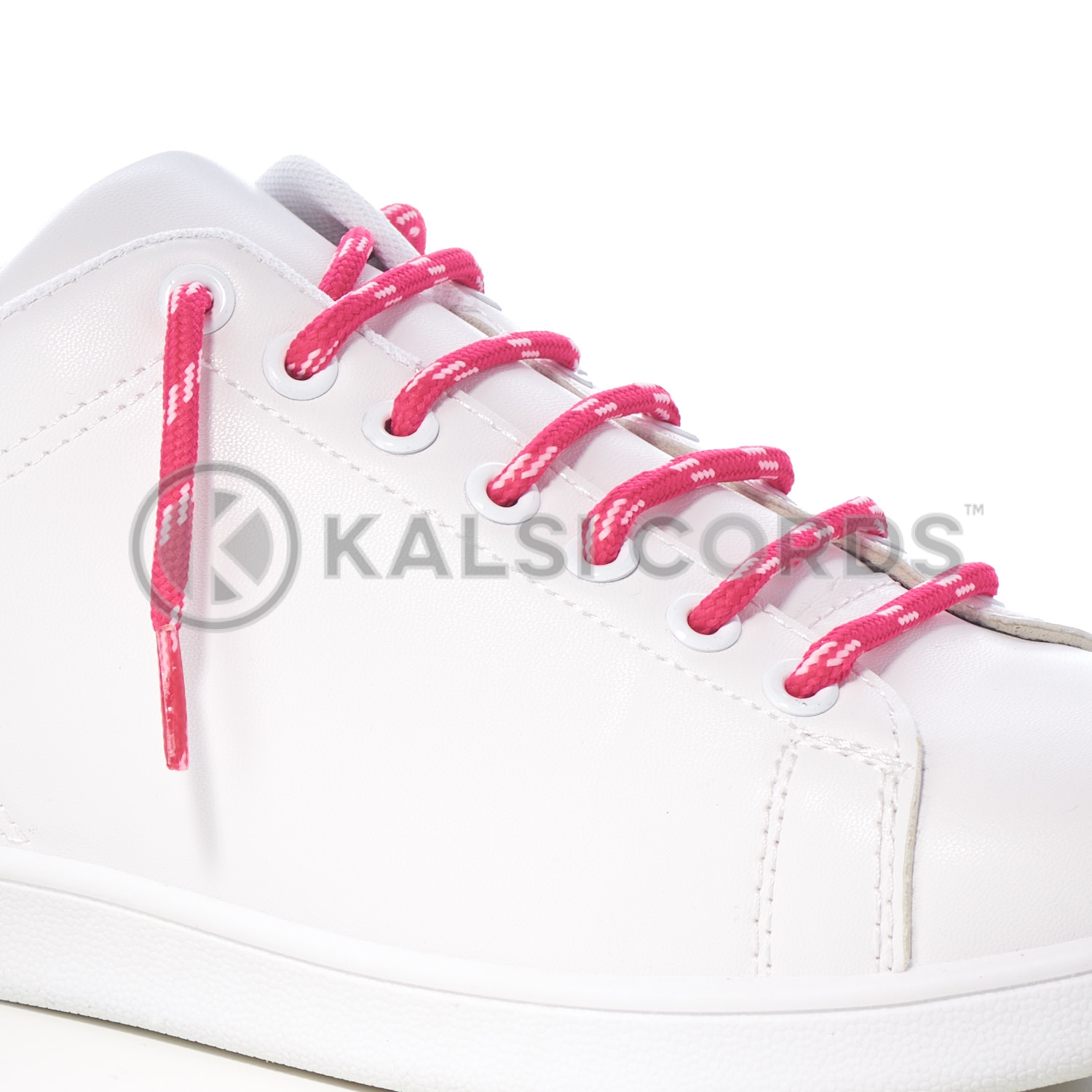 T621 5mm Round Cord Shoe Lace Cerise Baby Pink 4 Fleck Kids Trainers Adults Hiking Walking Boots Kalsi Cords