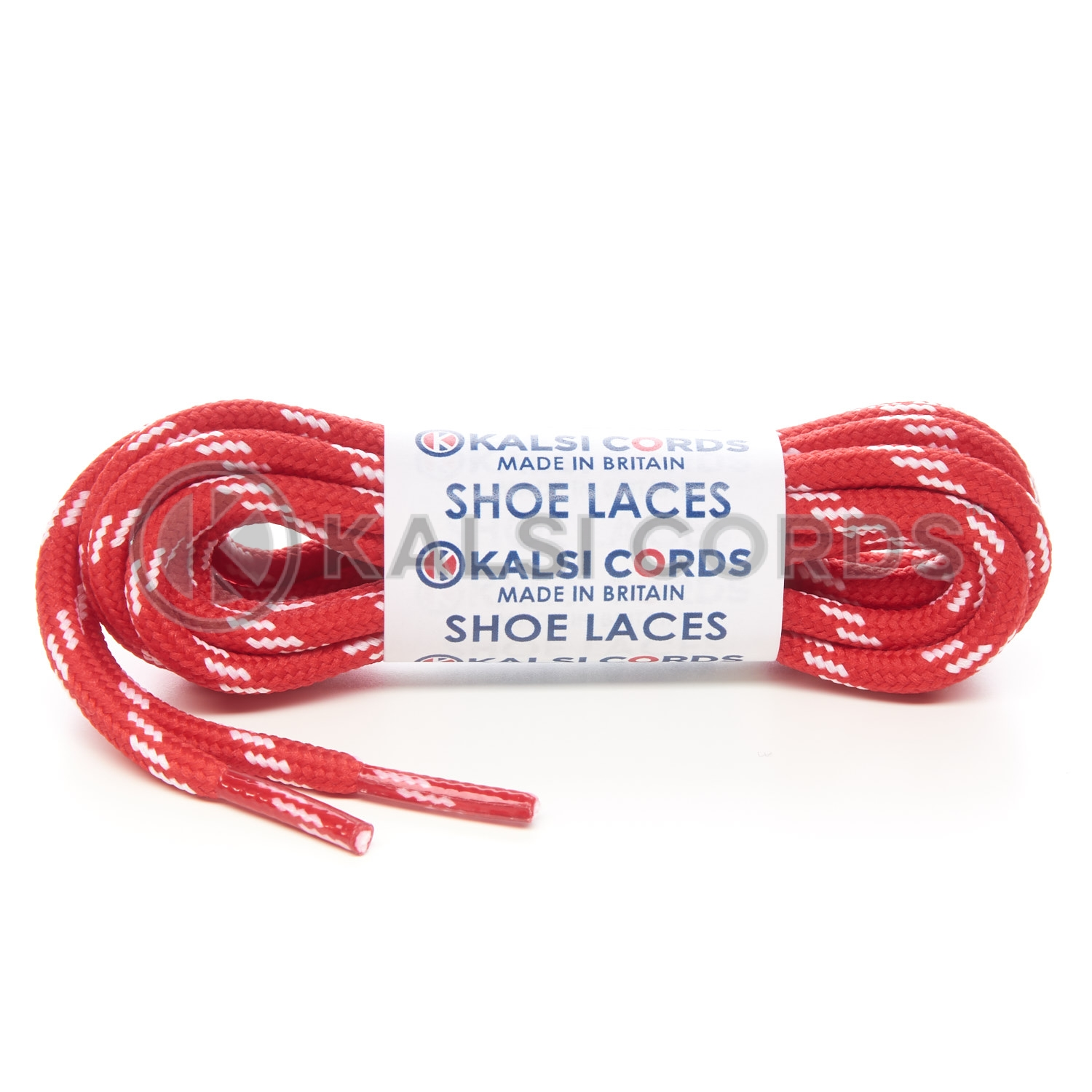 Round Red and White Fleck Bootlaces