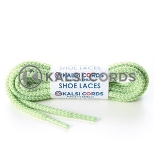 T621 5mm Round Cord Shoe Laces Light Grey Fluorescent Lime Green Herrigbone Pattern Kids Trainers Adults Hiking Walking Boots Kalsi Cords