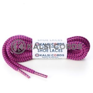 T621 5mm Round Cord Shoe Laces Purple Cerise Herrigbone Pattern Kids Trainers Adults Hiking Walking Boots Kalsi Cords