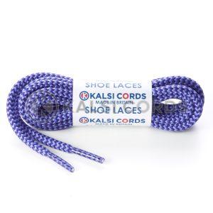 T621 5mm Round Cord Shoe Laces Purple Lilac Herrigbone Pattern Kids Trainers Adults Hiking Walking Boots Kalsi Cords