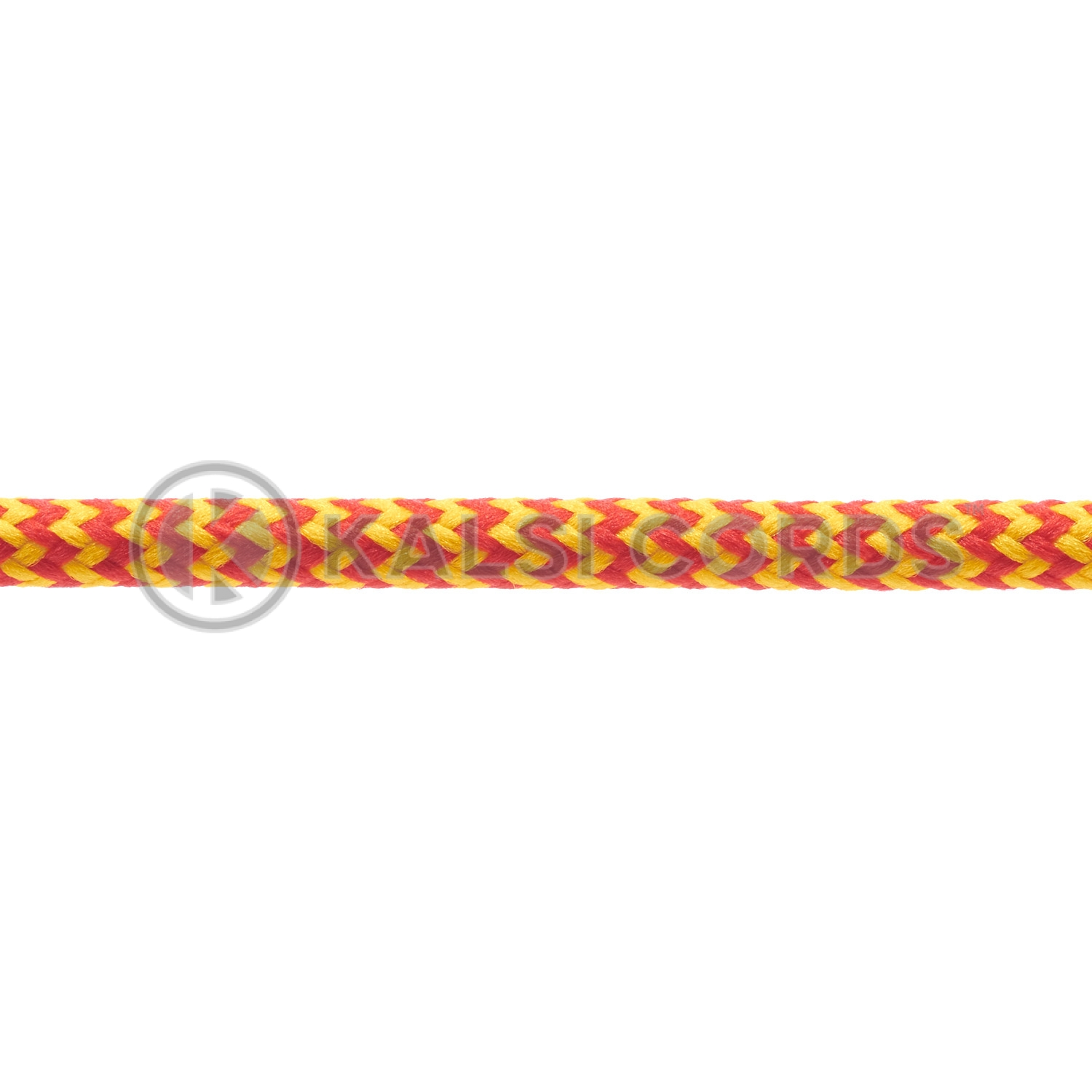 T621 5mm Round Cord Shoe Laces Red Yellow Herringbone Pattern Kids Trainers Adults Hiking Walking Boots Kalsi Cords