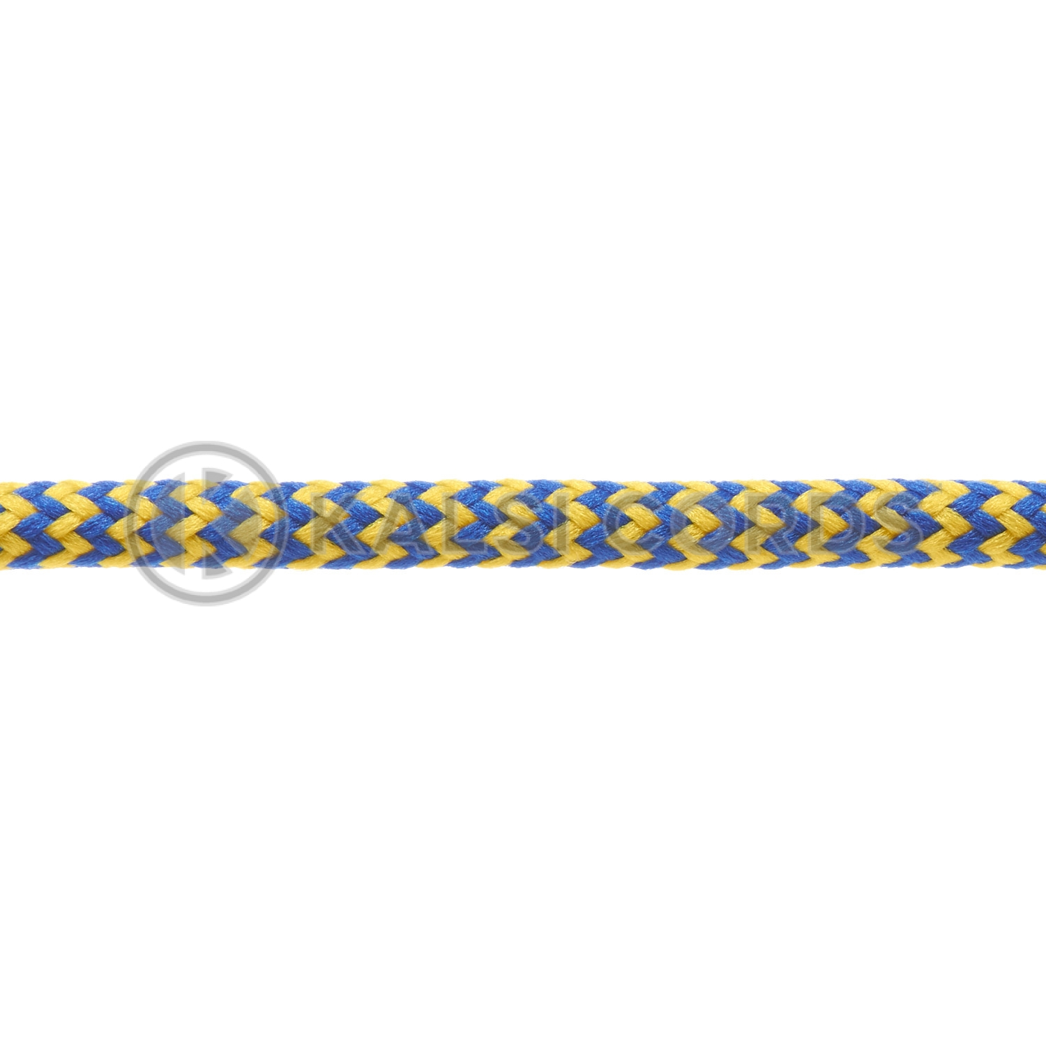 T621 5mm Round Cord Shoe Laces Royal Blue Yellow Herringbone Pattern Kids Trainers Adults Hiking Walking Boots Kalsi Cords