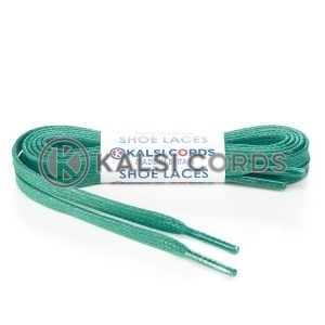 TE330 6mm Flat Waxed Cotton Shoe Laces Green Kalsi Cords